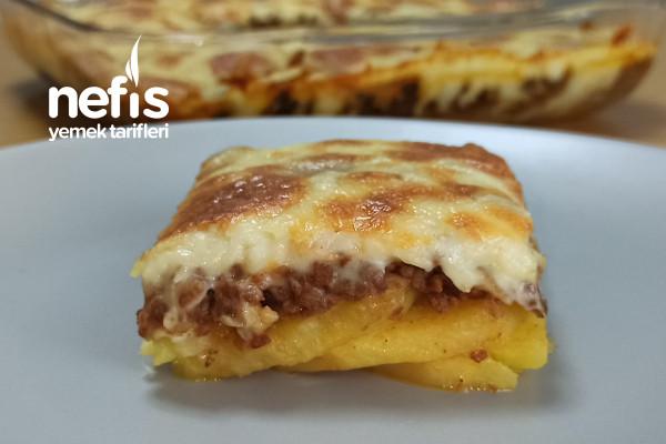 Fırında Beşamel Soslu Patates Oturtma (Videolu)