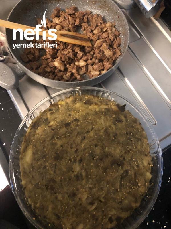 Pratik Bir Ana Yemek:köz Patlıcanlı Borcam Kebabı