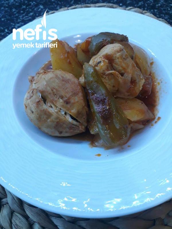 Tencerede pratik  patates tavuk yemeği