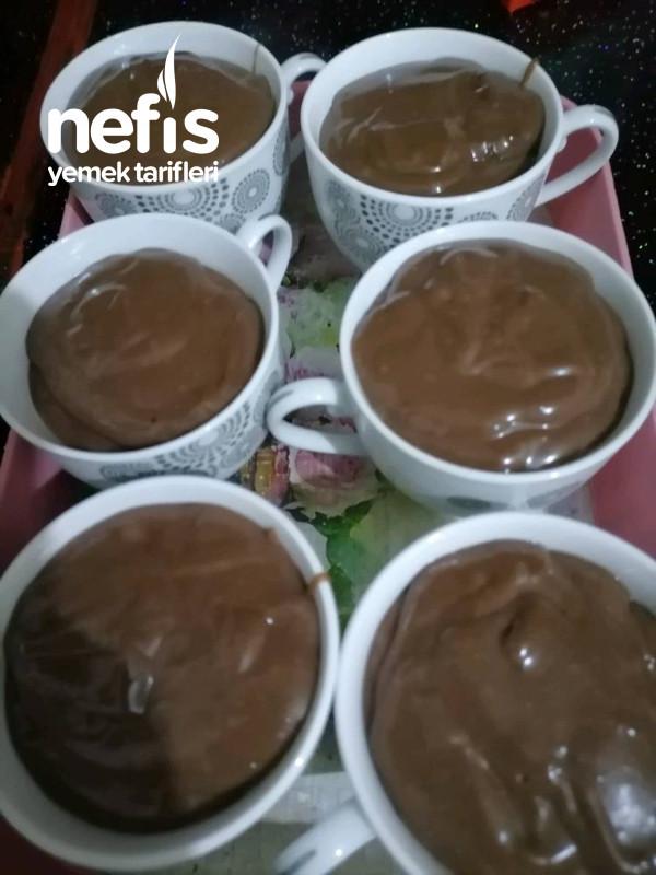 Çikolatalı İçi Bisküvili Fincan Tatlısı