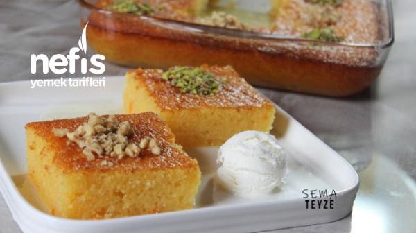 En Kolay Şerbetli Tatlı Portakallı Revani