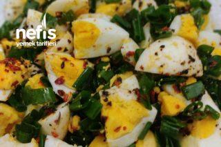 Taze Soğanlı Haşlanmış Yumurta Tarifi