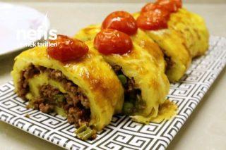 Fırında Kıymalı Rulo Patates Tarifi