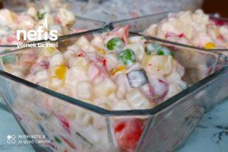 Boncuk Makarnalı Rus Salatası Tarifi