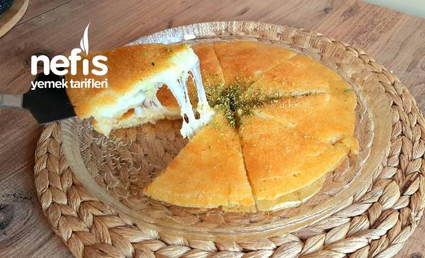 Künefe Tadında Peynirli Taş Kadayıf Tatlısı (Videolu)