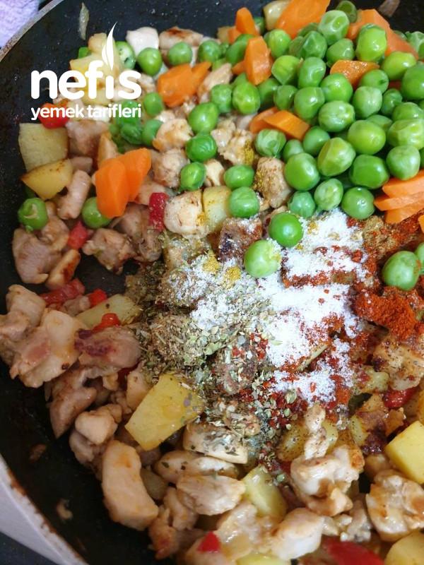 Tavuklu Sebzeli Bohça Kebabi