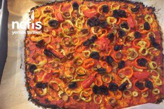 Bir Dilim 20 Kalori Diyet Pizza Tarifi