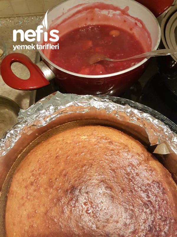 Çilekli Frambuazlı Cheesecake(Pürüzsüz Kesilir ve Asla Çatlama Yapmaz)