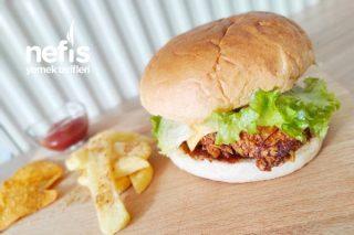 Dışı Çıtır İçi Yumuşacık Cips Kaplamalı Tavuk Burger Tarifi