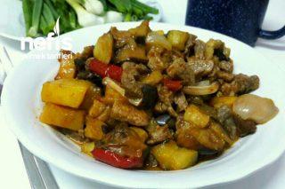 Fırında Sebzeli Et Yemeği Tarifi