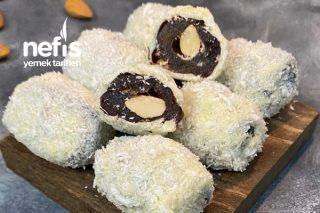 Hindistan Cevizi Kaplamalı Çikolatalı Hurma Tarifi