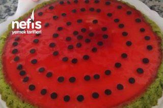 Karpuz Görünümlü Tart Kek Pasta Tarifi