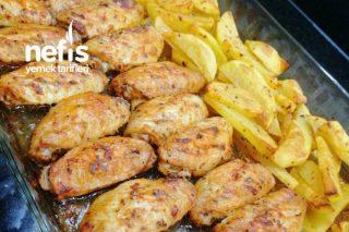 Lokum Gibi Fırında Kanat Patates Tarifi