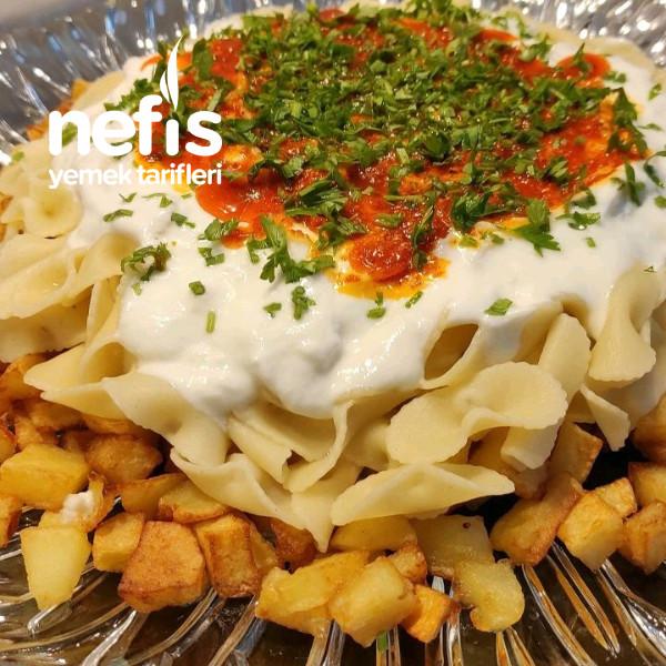 Patatesli Makarna