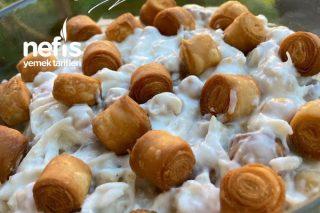 Çıtır Yufkalı Tavuklu Nohut Salatası Tarifi