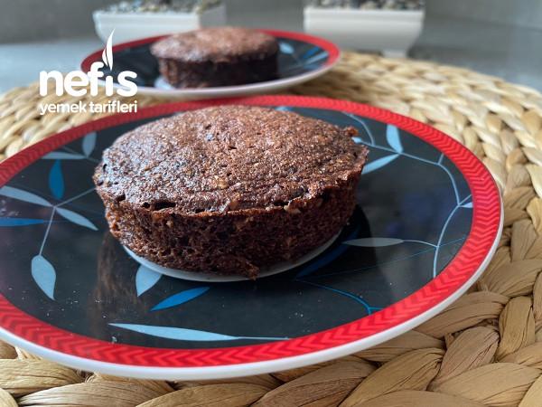 Unsuz-şekersiz Yulaflı Mikrodalgada Diyet Kek Tarifi