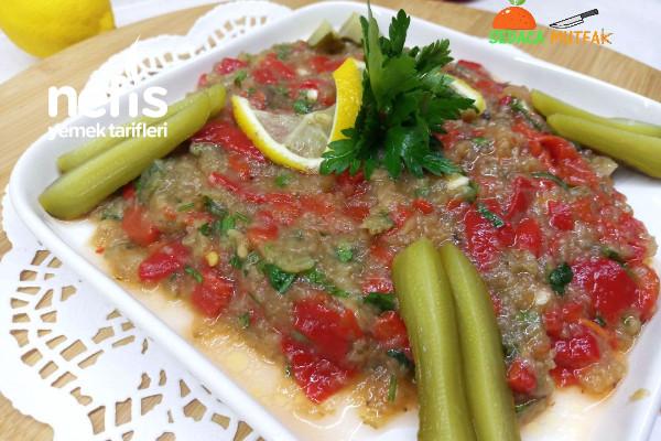 Herse Tarifi (Köz Biberli Patlıcanlı Salata Meze) (Videolu)