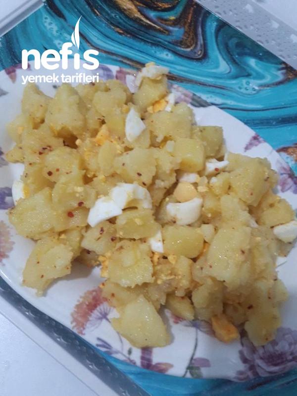 Kolay Yumurtalı Patates Salata 10 Dk. Hazırlayabileceğiniz