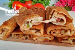 Pizza Tadında Krep Börek (Akşam Hazırla Sahurda 5 Dakikada Pişir) (Videolu) Tarifi