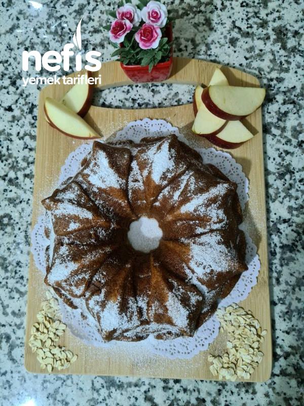 Yağsız,unsuz Sağlıklı Lezzetli Elmalı Kek