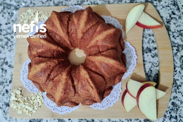 Yağsız Unsuz Sağlıklı Lezzetli Elmalı Kek