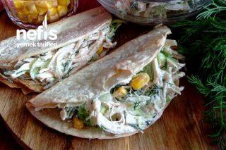Labne Peynirli Tavuk Salatası Tarifi