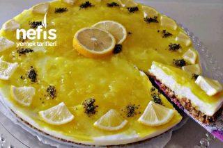 Labne Peynirsiz Limonlu Cheesecake Görünümlü Tatlı Tarifi