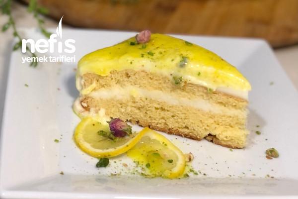 Swiss Meringue Kremalı Limonlu Pasta