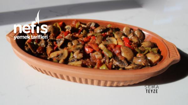 Ana Yemek Tadında Fırında Sebzeli Mantar Sote