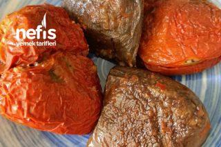 Etli Kuru Patlıcan Ve Kırmızı Biber Dolması Tarifi