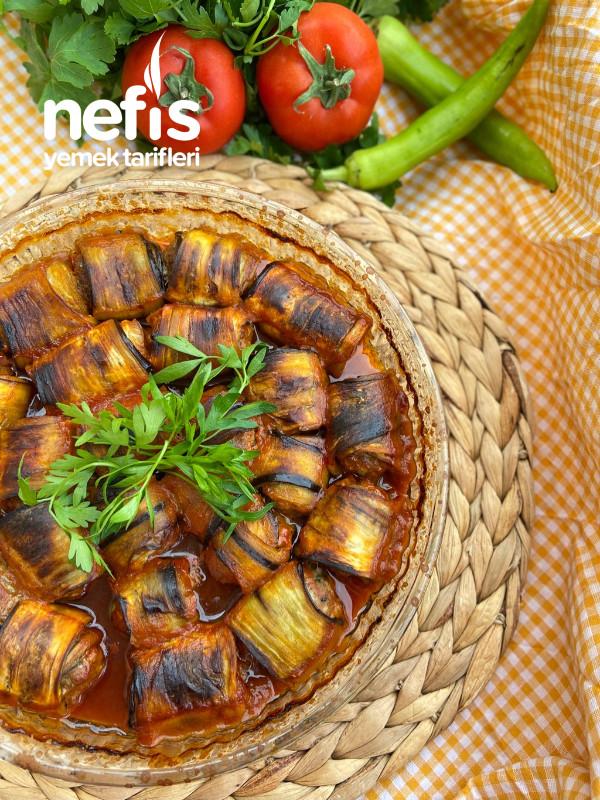 Kızartma Yapmadan Nefis Patlıcan Sarma