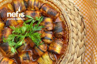 Kızartma Yapmadan Nefis Patlıcan Sarma Tarifi