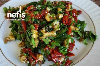Kurutulmuş Domates Salatası (Çeri) Tarifi