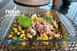 Yeşil Mercimekli Ton Balıklı Salata (Videolu) Tarifi