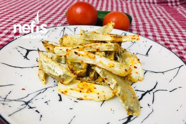 Fırında Kereviz Patates Kızartması Tadında (Fit Tarif)
