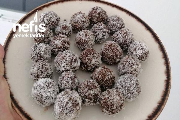 Kayısılı Diyete Uygun Çikolata Toplar