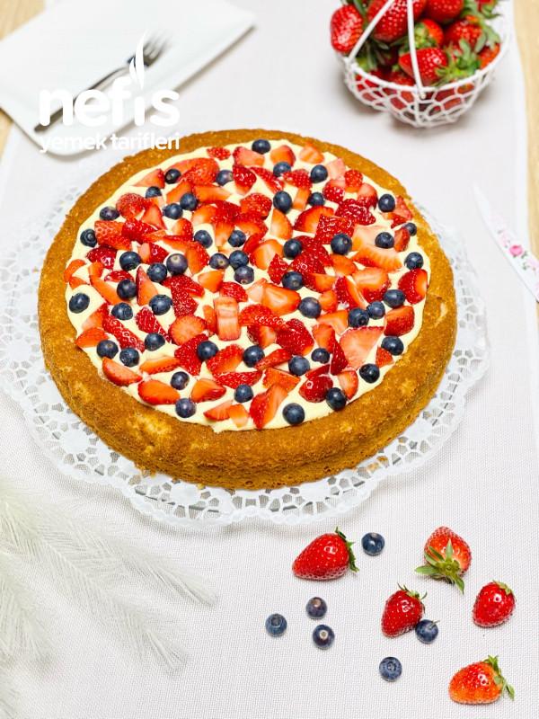 Meyveli Tart Kek(çok Kolay)