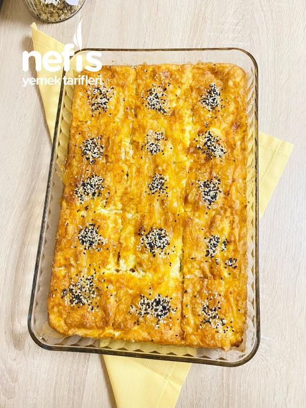 Baklavalık yufkadan Pileli Peynirli Börek
