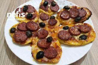 Hem Pratik Hem Lezzetli Patates Pizzam Tarifi