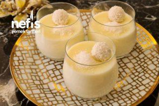 Raffaello Muhallebi:beyaz Çikolatalı Trend Muhallebi Tarifi