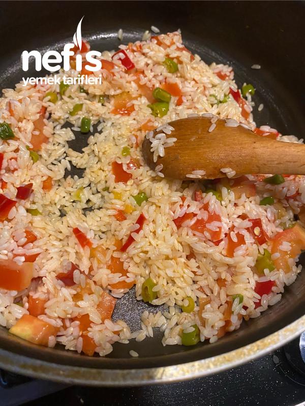 Etli Sebzeli Pirinç Pilavı