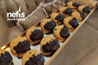 Damla Çikolatalı Cevizli Kurabiye (36 Adet) Tarifi