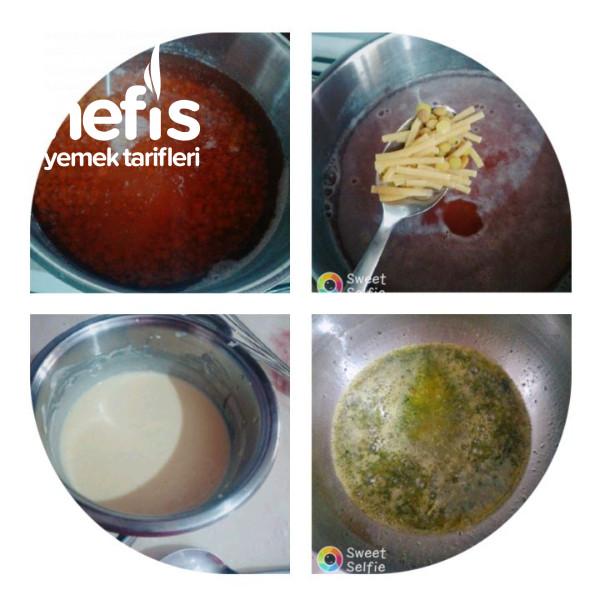 Erişteli Yoğurtlu Mercimek Çorbası
