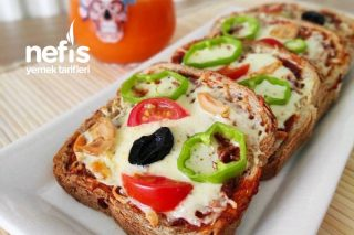 Pizza Tadında Kahvaltılık Lezzet Dilimleri Tarifi