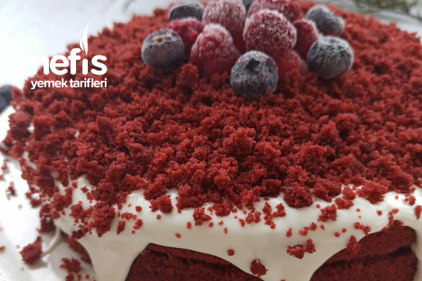 Red Velvet Pasta Kırmızı Kadife Dokulu Pasta