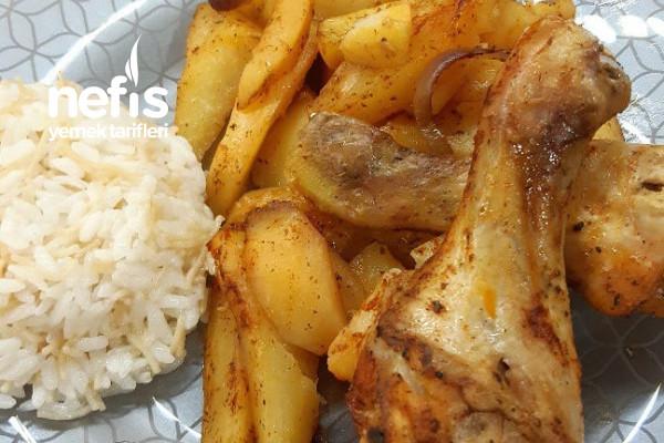 Fırında Kolay Tavuk Patates