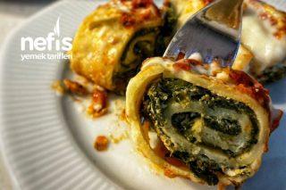 İtalyan Mutfağına Taş Çıkartacak Ispanaklı Ajvar Soslu Krep Sarma Tarifi