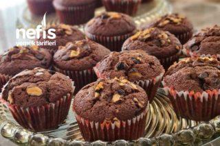 Kakaolu Damla Çikolatalı Cevizli Muffin Tarifi