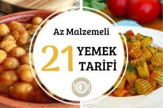 Az Malzemeli Yemekler: Ekonomik, Doyurucu 21 Tarif Tarifi