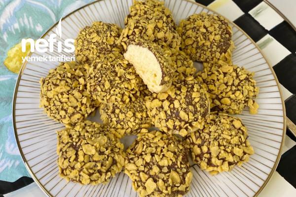 Çikolata Ve Mısır Gevreği Kaplı Kurabiye